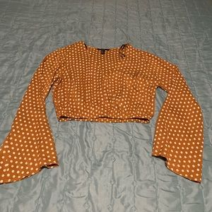 Forever 21 Bell Sleeve Crop Top